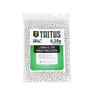 BBs SRC Taitus 0,28g Brancas – Pacote com 2500 bolinhas