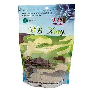 BBs BBKing 0.25g – Pacote com 3000 bolinhas