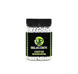 BBs Bio Attack Sniper 0.30g - Pote com 2000 bolinhas Brancas