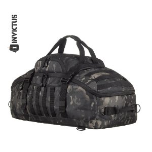 MOCHILA / MALA EXPEDITION INVICTUS - CAMUFLADO  WARSKIN  BLACK