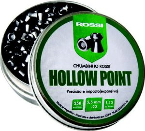 CHUMBINHO ROSSI HOLLOW POINT EXPANSIVO 5,5MM (250UN)