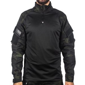 COMBAT SHIRT BRAVO - MULTICAM BLACK
