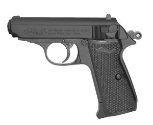 PISTOLA DE PRESSÃO CO2 WALTHER PPK/S BLOWBACK - 4,5MM