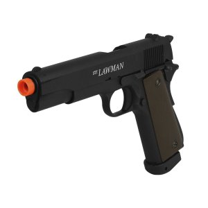 Pistola Airsoft GBB CO2 1911 Sti Lawman Blowback Full Metal - ASG