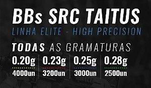 Combo com 5 BBs SRC Taitus Brancas (0.20, 0.23, 0.25 ou 0.28)