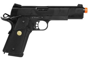 PISTOLA AIRSOFT GBB COLT 1911 728 BLOWBACK FULL METAL + CASE EXCLUSIVA + MAGAZINE EXTRA - DOUBLE BELL
