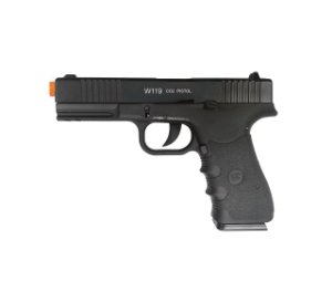 PISTOLA AIRSOFT GBB CO2 GLOCK W119 - WG + CASE + 10 CO2