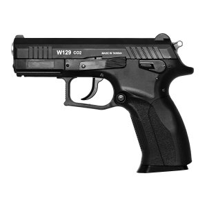 PISTOLA DE PRESSÃO W129 SLIDE DE METAL COM BLOWBACK CO2 4,5MM - WINGUN