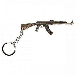 CHAVEIRO AK 47 - OURO VELHO