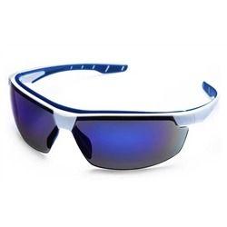Óculos de Proteção Neon Azul espelhado STF - Steelflex