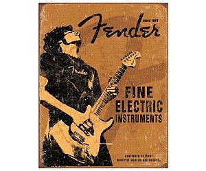 Placa Metálica Decorativa Fender Fine