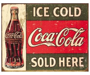 Placa Metálica Decorativa Ice Cold Coke 2