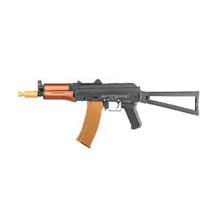 RIFLE AIRSOFT EVO - FULL METAL C/ HANDGUARD EM MADEIRA REAL - AK74U
