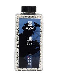BBs EVO 0.25g - Pote com 2700 bolinhas Brancas