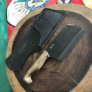 """Cutelo 6"""" Laminado em Aço carbono 5160, Acabamento FOSFATIZADO LISO, Cabo sorocabano - D'AVILA"""