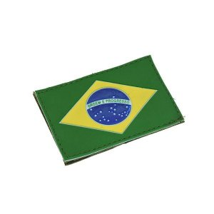 Patch Bandeira do Brasil Emborrachada - Bélica