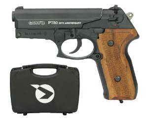 PISTOLA DE PRESSÃO CO2 PT-80 20TH ANNIVERSARY GAMO + MALETA - 4,5MM