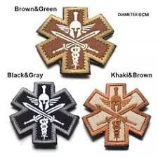 PATCH BORDADO BROWN&GREEN - PONTO MILITAR