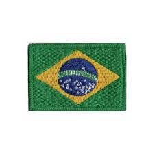 PATCH BORDADO MILITAR BANDEIRA DO BRASIL - PONTO MILITAR