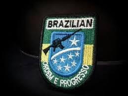 PATCH BORDADO MILITAR BRAZILIAN - PONTO MILITAR