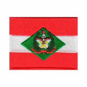 PATCH BORDADO BANDEIRA ESTADO SANTA CATARINA - PONTO MILITAR