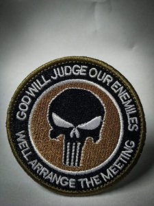 PATCH BORDADO GOD WILL JUDGE OUR ENEMIES PATCH - PONTO MILITAR