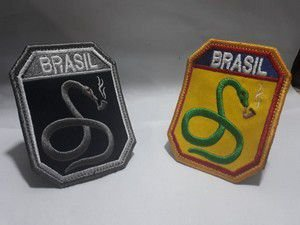 PATCH BORDADO FEB FORÇA COBRA FUMANDO - PONTO MILITAR