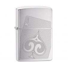 ISQUEIRO ZIPPO -  ACE OF SPADES BRUSHED