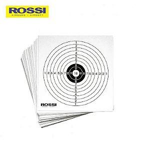 Alvo de Papel Rossi - Pacote com  50 UN. (14X14)CM