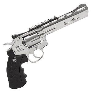 "Revólver de Pressão  CO2 ASG Dan Wesson 6""Silver - 4.5mm"