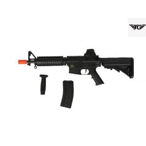 Rifle Airsoft  JG Works - M4 4003MG + Bateria Nimh + Carregador SkyRC En3 + Grip