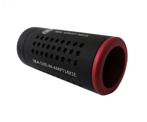 Silenciador para Airsoft Furado c/ Amplificador 105X44mm Rosca Esquerda - Sea Parts