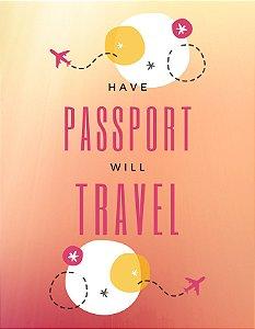 Quadro Decorativo Poster Passaport em Canvas