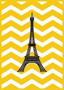 Quadro Decorativo Poster Torre Eiffel em Canvas