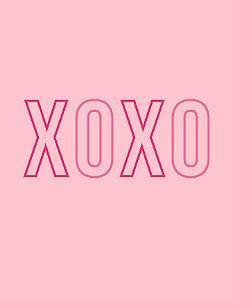 Quadro Decorativo Poster Fashion XOXO