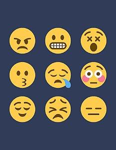 Quadro Decorativo Poster Emoticons