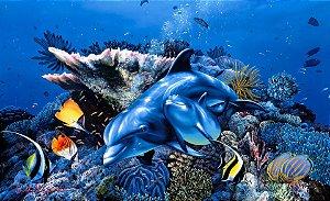 Quadro Decorativo Poster Pintura do Fundo do Mar
