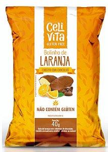 DISPLAY COM 12 BOLINHOS DE LARANJA COBERTO COM CHOCOLATE 40g
