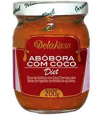 Abobora c/ Coco Diet Delakasa