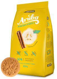Aruba - Biscoito Sabor Banana e Canela Zero 100g