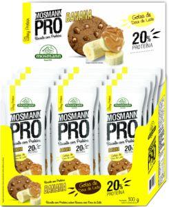 Biscoito c/ Proteína Banana c/ Gotas de Doce de Leite