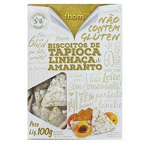 Biscoito de Tapioca Linhaça e Amaranto