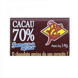Chocolate Amargo Cacau 70% s/ Açúcar 14g