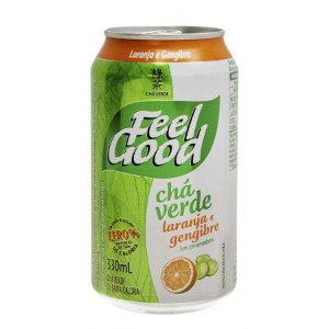 Feel Good Chá Verde Laranja e Gengibre 330ml