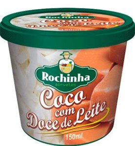 Sorvete de Massa Coco c/ Doce de Leite 150ml