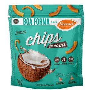 Chips de Coco com Açúcar de Coco Flormel