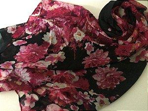 Echarpe floral - pink