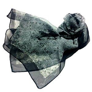 Echarpe arabescos - preta - feminina/masculina
