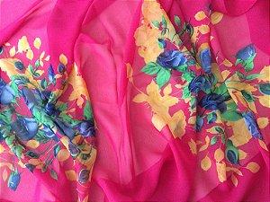 Echarpe floral pink