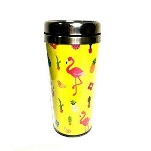 Copo térmico flamingo